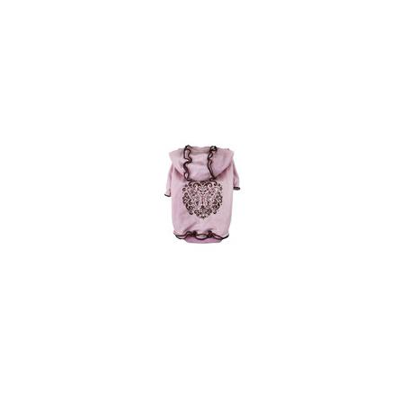 DOBAZ Майка-туника розовая с оборками и капюшоном