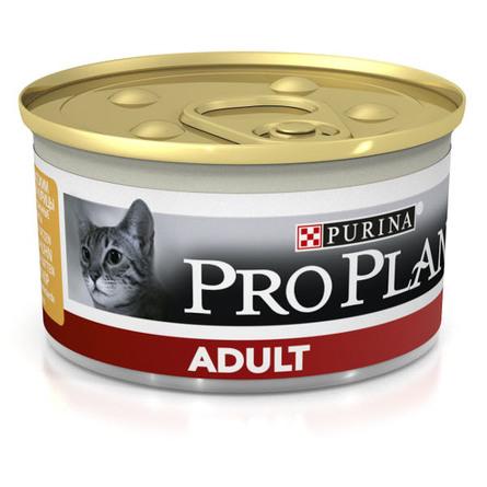 Pro Plan Adult Паштет для взрослых кошек (с курицей), 85 гр фото