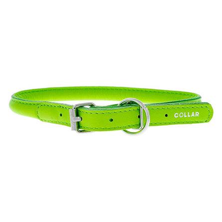Купить Collar Ошейник для собак, Collar Glamour , круглый, ширина 8 мм, длина 33-41 см, зеленый