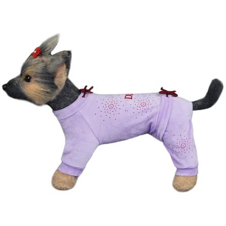 Купить DogModa Комбинезон Галактика для собак, длина спины 20 см, обхват шеи 21 см, обхват груди 33 см, сиреневый