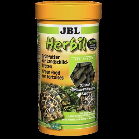 JBL Herbil Основной корм для сухопутных черепах, палочки, 250 мл