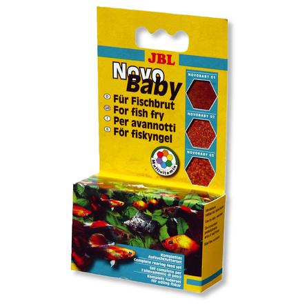 Купить JBL NovoBaby Набор кормов для мальков, 3 баночки ассорти, 18 гр