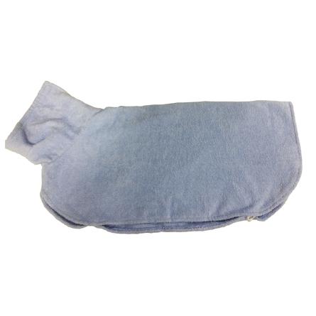 CLP Халатик для домашних животных, длина спины 80 см, высота 45 см, голубой