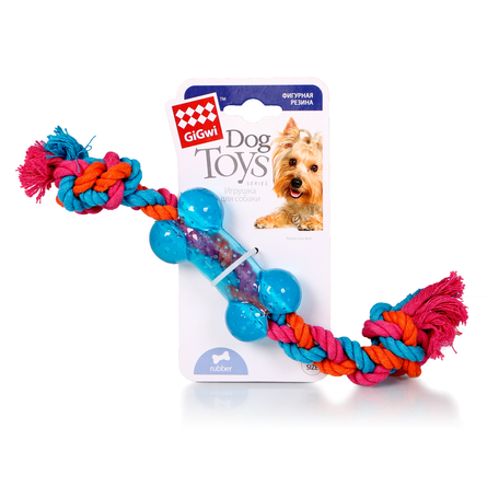 GiGwi Игрушка для собак, маленькая косточка на веревке фото