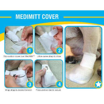PawFlex MediMitt Outdoor Cover L Набор водостойких чехлов для лап