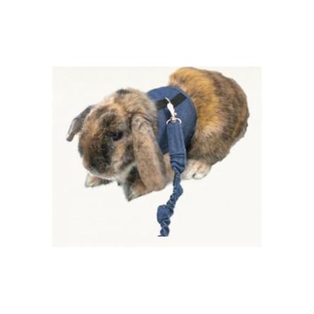 Marshall Шлейка с поводком для кроликов, джинсовая