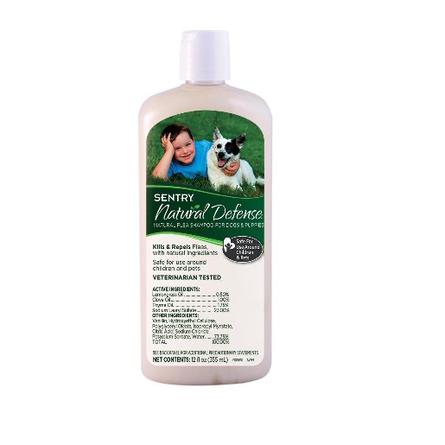 SENTRY Natural Defense Шампунь для собак и щенков противоблошиный, 355 мл