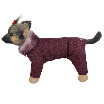 Купить DogModa Комбинезон стеганый, длина спины 24 см, обхват груди 39 см, обхват шеи 25 см, девочка