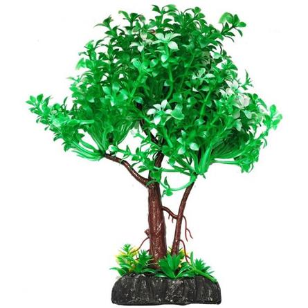 УЮТ Растение аквариумное дерево зеленое с белым, 22 см фото