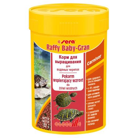 Sera Raffy Baby-Gran Корм для молодых водных черепах, гранулы, 32 гр