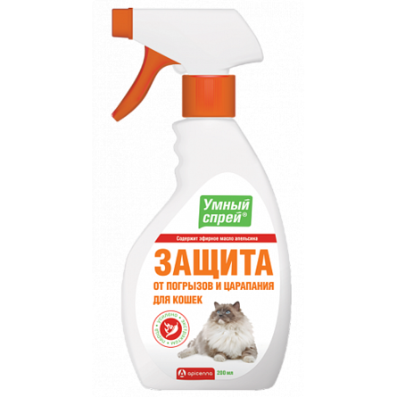 УМНЫЙ СПРЕЙ Защита от царапания и погрызов для кошек , 200 мл