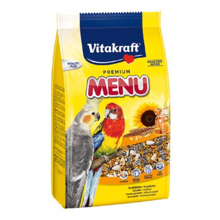 Купить Vitakraft Menu Vital Honey Корм для средних попугаев, 1 кг