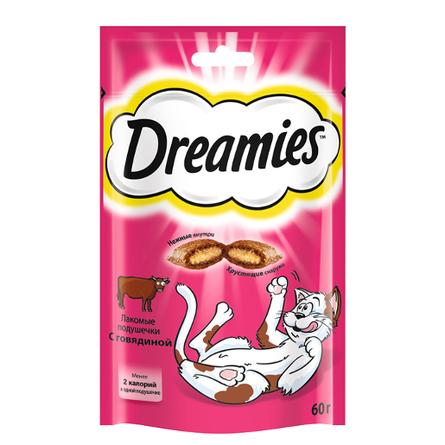 Dreamies Подушечки с паштетом для взрослых кошек (с говядиной), 60 гр фото