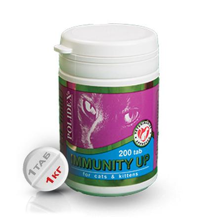 Polidex Immunity Up Кормовая добавка для кошек для укрепления иммунитета, 200 таблеток