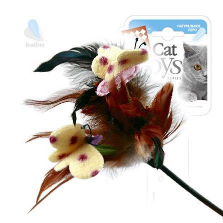 Купить GiGwi Игрушка для кошек Дразнилка с бабочками на стеке