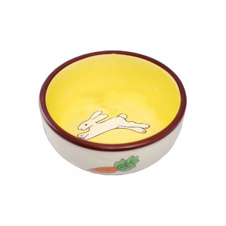 N1 Заяц и морковка Миска для грызунов, керамика