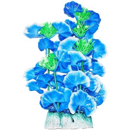 УЮТ Растение аквариумное голубые цветы, 24 см