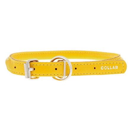 Купить Collar Ошейник для собак Collar Glamour , круглый, диаметр 8 мм, длина 33-41 см, желтый