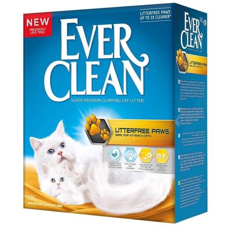 EVER CLEAN Litter free Paws Наполнитель комкующийся для кошек Для идеально чистых лап, 6 л
