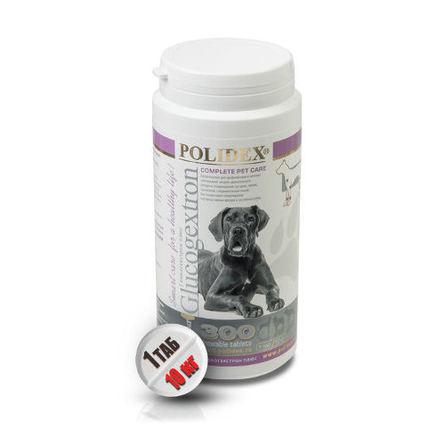 Купить Polidex Glucogextron plus Кормовая добавка для собак для восстановления хрящевой ткани, 300 таблеток, Полидекс