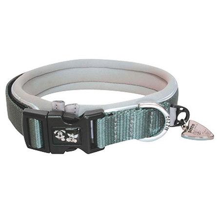 Купить Dezzie Ошейник для собак средний, ширина 2 см, длина 38-45 см, серый
