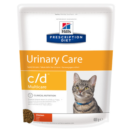 Купить Hill's Prescription Diet c/d Multicare Urinary Care Сухой лечебный корм для кошек при заболеваниях мочевыводящих путей (с курицей), 400 гр, Hill's
