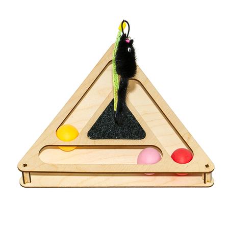 GoSi Треугольник Игровой комплекс для кошек с шариками и игрушкой