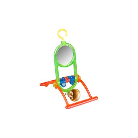 Flamingo игрушка для птиц, качель с зеркалом