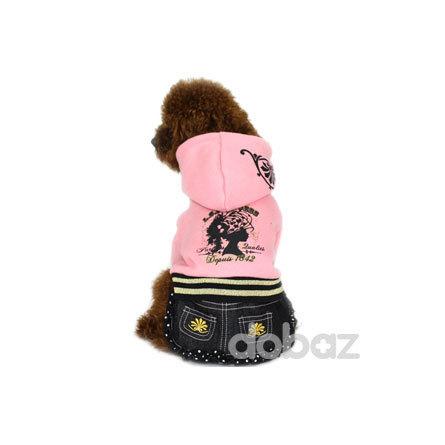 DOBAZ Платье с капюшоном и юбкой, розовое фото