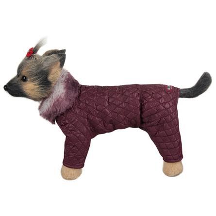 Купить DogModa Комбинезон стеганый, длина спины 32 см, обхват груди 52 см, обхват шеи 33 см, девочка