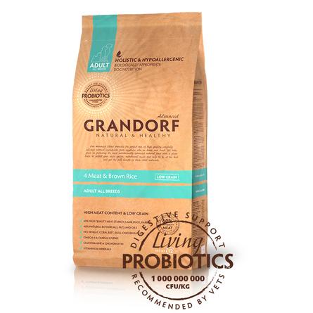 Купить Grandorf 4Meat & Brown Rice Adult All Сухой корм для взрослых собак всех пород (с четырьмя видами мяса и бурым рисом), 12 кг