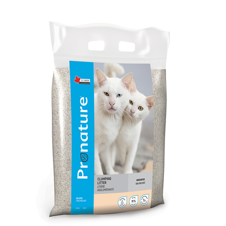 Pronature Комкующийся глиняный наполнитель для кошек (без аромата), 12 кг