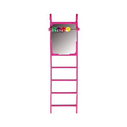 Flamingo игрушка для птиц, лесенка с зеркалом и счётами