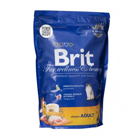 Brit Premium Cat Adult Сухой корм для взрослых кошек (с курицей), 800 гр фото