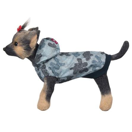 Купить DogModa Ветровка Мегаполис для собак, длина спины 28 см, обхват шеи 29 см, обхват груди 45 см, синяя