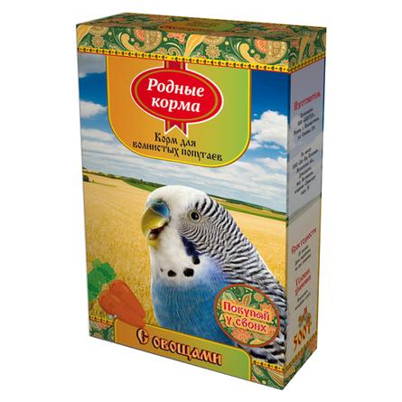 Купить Родные Корма Корм для волнистых попугаев (с овощами), 500 гр, Родные корма