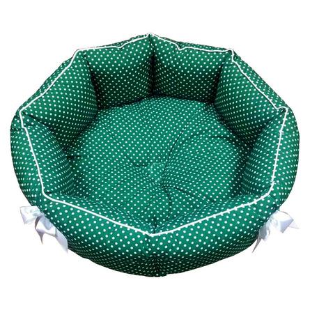 CLP Зелёный горох M Лежанка круглая для животных, зелёная фото