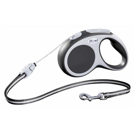 Flexi Vario Рулетка для собак до 20 кг, длина 5 м, трос, черная фото