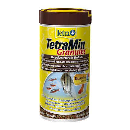 Купить TetraMin Mini Granules корм для декоративных аквариумных рыб, 100 мл
