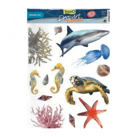 Tetra DecoArt StickerSet Marine Life Набор наклеек для аквариума