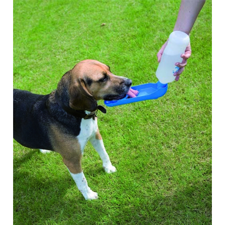 Savic Поилка для собак дорожная, бело-голубая, пластик