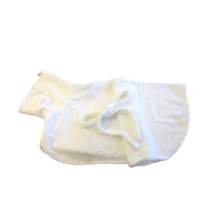CLP Халатик для домашних животных, длина спины 80 см, высота 45 см, белый