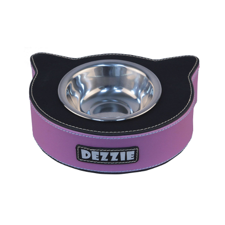 Dezzie Миска для кошек, черно-сиреневая фото