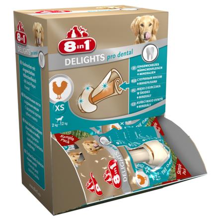 8in1 Delights Dental Bone XS Косточка для взрослых собак мелких пород (с курицей) фото