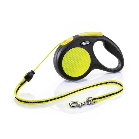 Flexi New Neon M Поводок-рулетка для собак, черный/неон, трос
