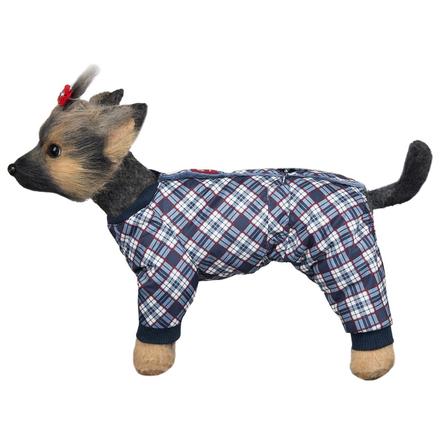 Купить DogModa Комбинезон Нью-Йорк для собак, длина спины 24 см, обхват шеи 25 см, обхват груди 39 см, мальчик