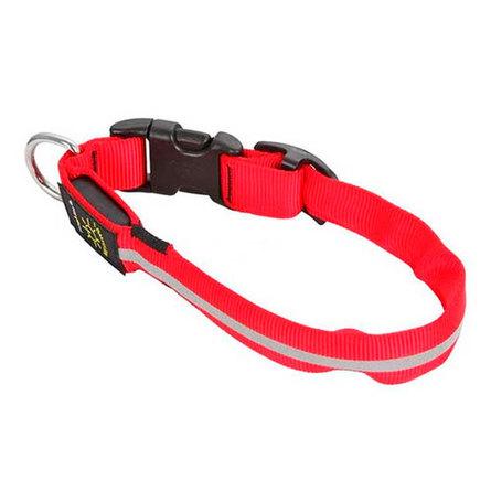 Купить Nite Ize Светящийся ошейник для собак, средний, 33 - 46 см, красный, Niteize