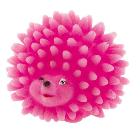 Dezzie Розовый ежик Игрушка для собак, виниловая с пищалкой