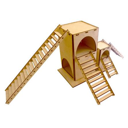 Данко Домик для грызунов двухэтажный (L) фото