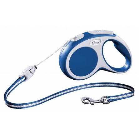 Flexi Vario Рулетка для собак до 12 кг, длина 5 м, трос, синяя фото